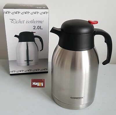 bouteille thermos Isotherme Chaud ou Froid double paroi inox incassable 2 L 914