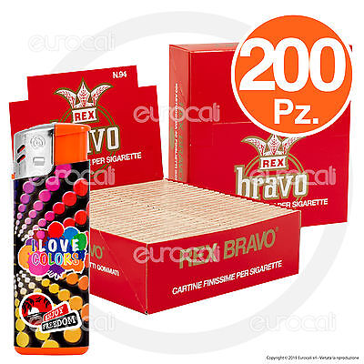 Cartine BRAVO REX corte FINISSIME regular 200pz - 2 box