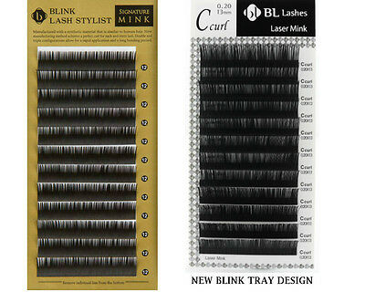 Blink Mink Lash Mixed Length J, B, C, D curl EYELASH EXTENSIONS