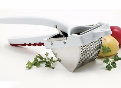 NORPRO 468 Deluxe Stainless Steel Potato Ricer, Fruit Press Juicer 1.5 Cup
