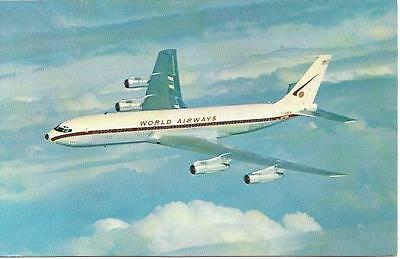 Cp Avion Boeing 707C World Airways Boeing Intercontinental Fan Jets