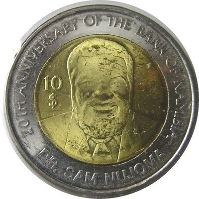 elf Namibia 10 Dollars 2010 Bimetallic Bank 20th