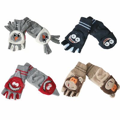 Childrens Fleece Monster Animal Gloves Kids Warm Winter Mittens for Boys & Girls