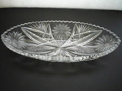 """Antique Pairpoint Abp Cut Glass 10"""" Celery Tray Leroy Pattern """"superb"""""""