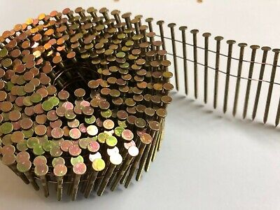 15 Degree Flat Wound Wire Coil Nails for Nail Gun. 2.1 x 25mm - 50mm