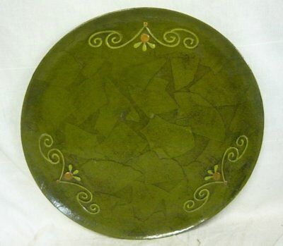 FITZ and FLOYD GREEN LACQUER WARE TRAY MID CENTURY DANISH MODERN RETRO Vintage