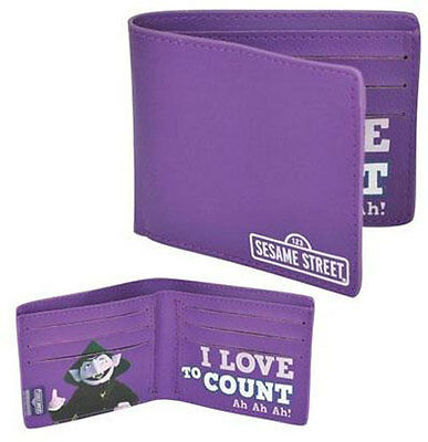 Sesame Street: I Love To Count Bi Fold Wallet - New & Official With Tag