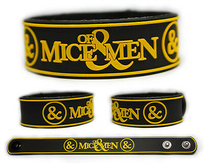 OF MICE AND MEN Rubber Bracelet Wristband Of Mice & Men