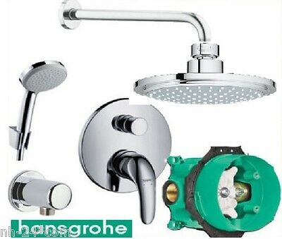 hansgrohe dusch set hans grohe euphoria kopfbrause focus e ibox armatur hg 81. Black Bedroom Furniture Sets. Home Design Ideas