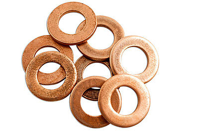 10 x 12MM COPPER SEALING SUMP PLUG BANJO BOLT SEAL 12.0 MM WASHERS KW127