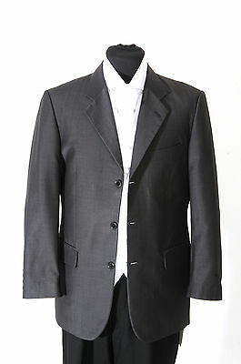 MJ-25. Mens steel grey mohair lounge jacket - for wedding, dress, suit, prom
