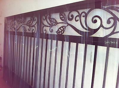 TUSCAN DRIVEWAY GATE ITALIAN  METAL ART GARDEN WROUGHT IRON 12 FT