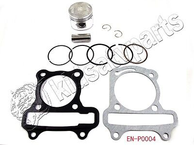GY6 moped scooter engine Piston ring SET W/ spring pin head gasket 50CC SUNL JCL