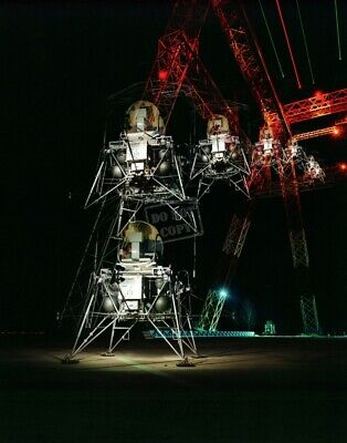 Lunar Lander Multiple Exposure Apollo LLRF Langley Lunar Module 8X12 PHOTOGRAPH