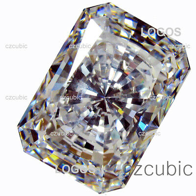 Cubic Zirconia Eme/radiant Cut Super&super Quality White Cz Clear U.s.a Shippe