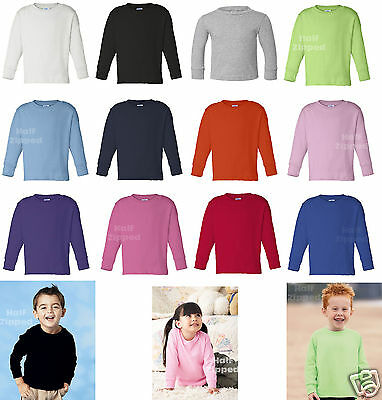 Rabbit Skins Toddler Long Sleeve Cotton T-Shirt 3311 2T 3T 4T 5/6