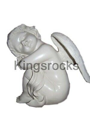 Ceramic Sleeping Angel Sitting Statue 16cm x 11cm x 17cm 744gm