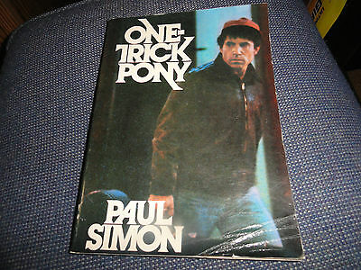 """PAUL SIMON   ONE-TRICK PONY  BOOK AND  8.5"""" Poster  backed with the film credits"""
