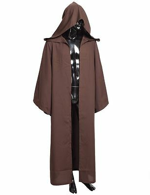 cabf0ad0b6 STAR WARS JEDI Knight Robe Hooded Cloak Cape Costume Halloween Cosplay Gift