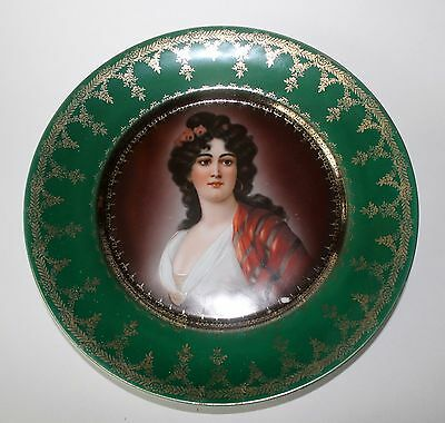 19th century Royal Vienna Style Hutschenreuthe​r Portrait Plate Marked Numbered