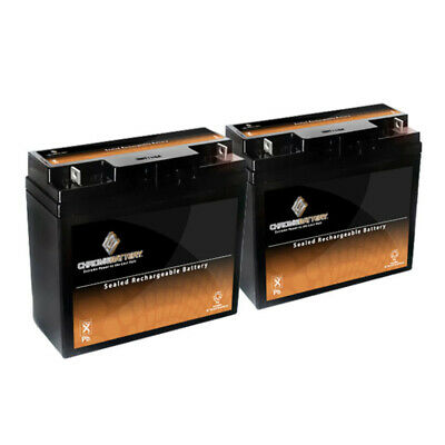 12V 20AH Rechargeable AGM SLA Battery - T3 Terminals - for ZB-12-20 - 2PK