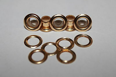 100 x 5mm Gold Eyelets with Washers Grommets Arts Leather Crafts Scrapbooking