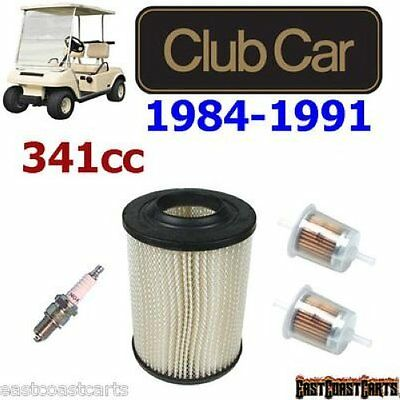 Club Car 1984-1991 Tune Up Kit : Air Filter, Fuel Filter, Spark plug 1013379