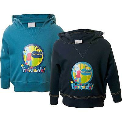 Boys In The Night Garden Iggle Piggle Hooded Sweat Top Teal Navy 6-23mths 2-3yrs