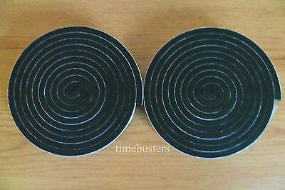 2 Rolls of Sticky Black Single Sided Foam Tape 20mm Wide x 6mm Thick 4m in Total