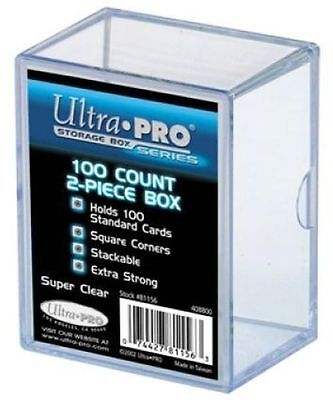 """1 x 100 ct. """"2 piece"""" Ultra Pro Plastic Card Storage Box Clear Collectible TCG"""