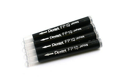 Four refill cartridges for the Pentel Pocket Brush pen for calligraphy.