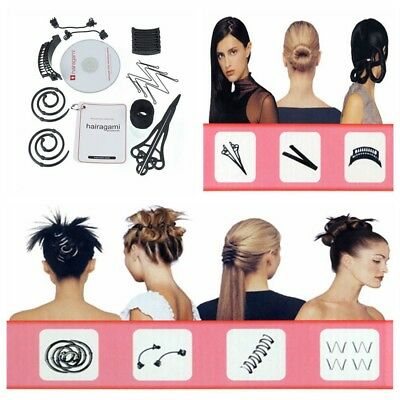 Hairagami Beauty Salon Hairstyle Styling Total Hair Makeover Kit Sets 8 Styles
