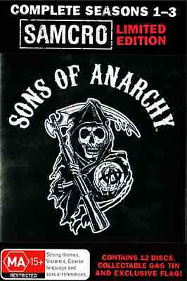 Sons of Anarchy: Complete Season 1-3 - Limited Samcro Edition Steel Case DVD
