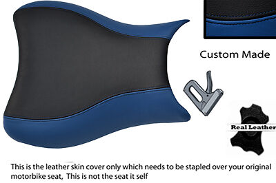 Blue & Black 08-12 Custom Fits Suzuki Hayabusa Gsx 1300 Cc Leather Seat Cover