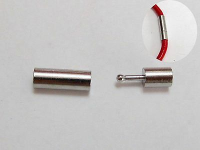 10 Stainless Steel Bayonet Clasps For 2mm Leather Cord