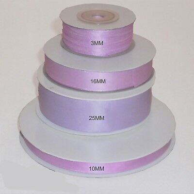 Lavender double faced satin ribbon 3mm 10mm 16mm 25mm width FULL ROLL
