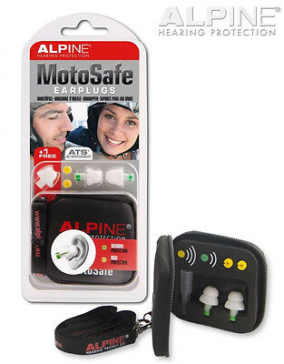 Alpine MotoSafe Earplugs Motorcycle Ear Plugs  Biker Safety Hearing Protection