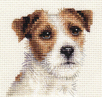 JACK RUSSELL TERRIER dog, puppy Full counted cross stitch kit  *FIDO STUDIO