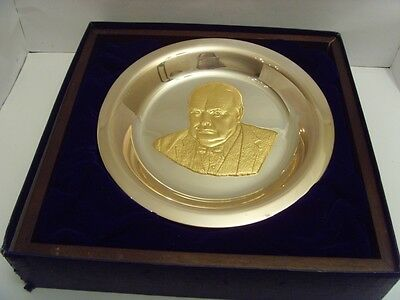 1974 Decent Silver Winston Churchill Centenary Plate