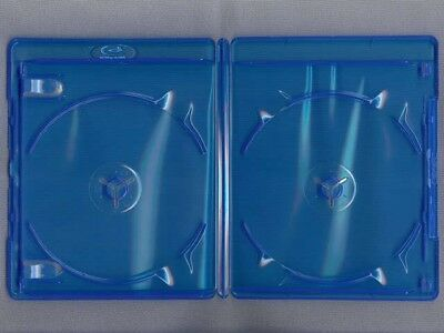 Double Blu Ray Cover Case 12mm Holds 2 BluRay Disc with Clear plastic in Front