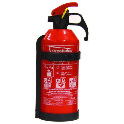 1Kg Dry Powder Class A B C Fire Extinguisher Car Home Work Office