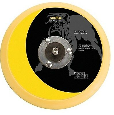 "Mirka 106 Vinyl Face 6"" Sticky Back Sander Pad PSA Backer Backup Backing Plate"