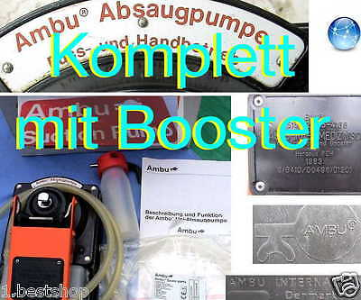NOTFALL AMBU PUMPE ABSAUGPUMPE EMERGENCY SUCTION BOOSTER PUMP 1.Hilfe DRK RTW BW
