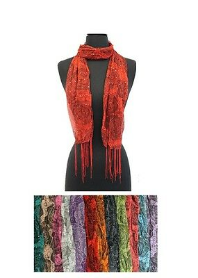 Lot of 12 NEW Polyester Shawl Long Scarf Stole Wrap Fashion Women scarves