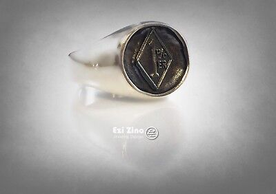 1%er Sterling Silver Gang Group Criminal Biker Outlaw Ftw Ring Size