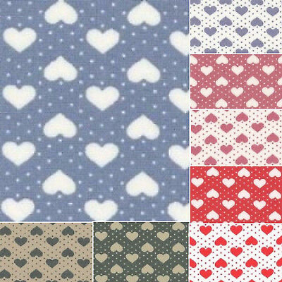 100% Cotton Poplin Fabric - Hearts - 115-116