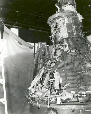 MA-1 Capsule Reassembled After Explosion Mercury Program 8X12 PHOTOGRAPH