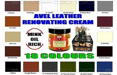 Leather Colour Restoration Cream/Mink Oil/Leather Conditioner/Sofa/Suites/Seats