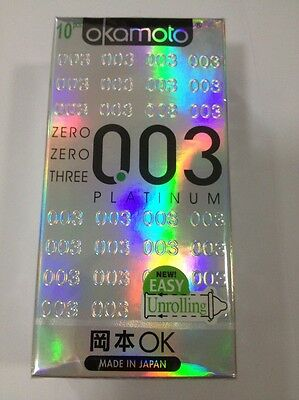 Japan Okamoto Platinum 003 Super Ultra Thin Condom 4s,10s or 20s Beware of FAKE