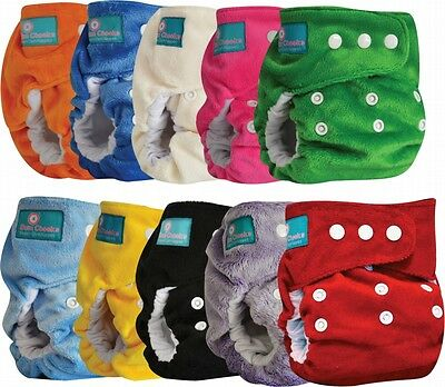 BUM CHEEKS Minky Modern Cloth Nappies - Reusable Adjustable Washable AIO 4-16kg